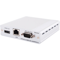 CH-507RX - HDMI over CAT5e/6/7 Receiver with 24V PoC and LAN Serving