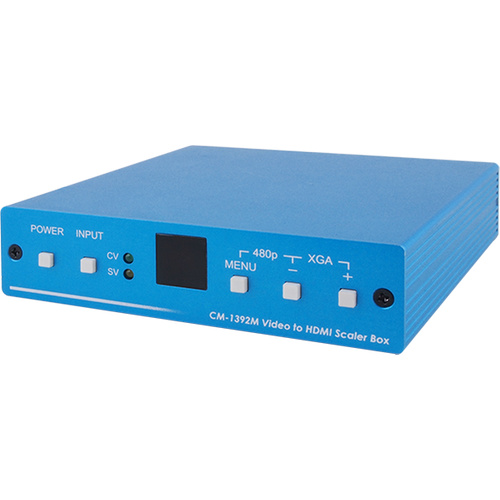 CM-1392M - CV/SV to HDMI Scaler with 2 RCA Audio Input